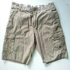 Micros//Tan Cargo Pocket Shorts